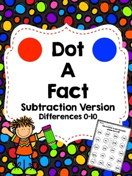 Dot a Fact-Subtraction