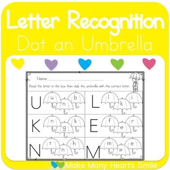Dot a Letter: Umbrellas