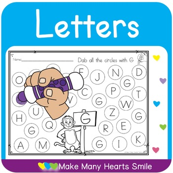 Dot a Letter with Monkey