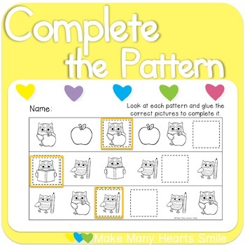 Repeating Patterns Mini Kit: School Owls