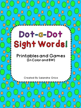 Dot-a-Dot Sight Words!