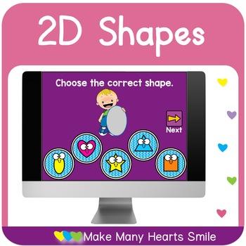 Dot a Smiling Shape: 2D Shapes