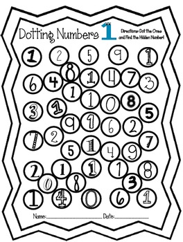 Dot and Discover Numbers - A Bingo Dauber Unit - Numbers 0 ...