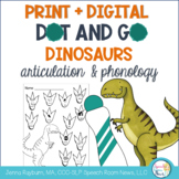 Dot and Go Articulation and Phonology: Dinosaur (Print + Digital)