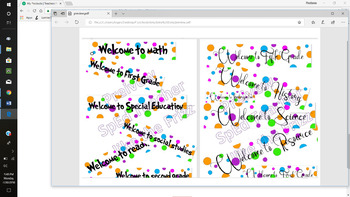 Polka Dot theme Banners welcome signs decorations (Dr. Seuss inspired font)