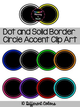 Dot and Solid Border Circle Accent Clip Art