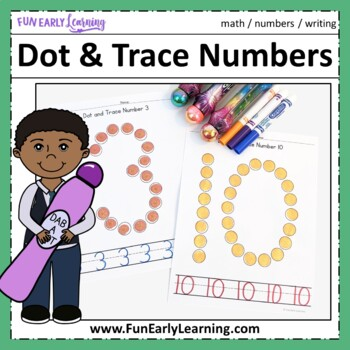 Dot and Trace Bundle - Letters, Numbers & Shapes - No Prep Worksheets