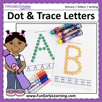 Dot and Trace Letters - No Prep Interactive Worksheets