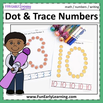 Dot and Trace Numbers - No Prep Interactive Worksheets