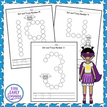 Dot and Trace Numbers with Superheroes