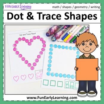 Dot and Trace Shapes - No Prep Interactive Worksheets