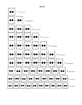 Dot card worksheets for pre-multiplication and repeated addition