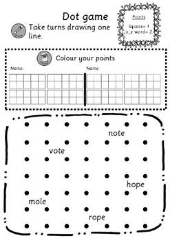 Dot game (A,I,O,U)