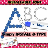 Dot marker font (INSTALLABLE)