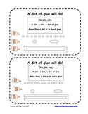 Dot of glue- practice gluing worksheet