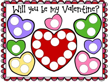Dot paint Bible Verse page for Valentines Day