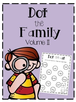 Dot the Family Volume 2: Word Families