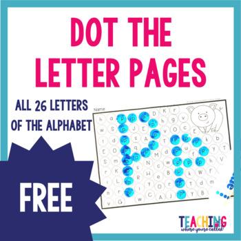 Dot the Letter Freebie!