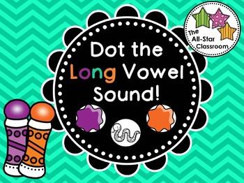 Dot the Long Vowel Sound Freebie!