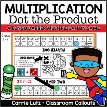 Multiplication Game ~ Dot the Product {A Fun Way to Learn Multiplication}