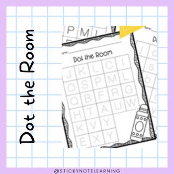 Dot the Room Letter Sound Identification