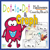 Dot-to-Dot And Graph Halloween Count by 10s and 2s