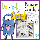 Dot-to-Dot And Graph Halloween Count by 1s