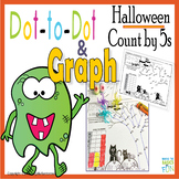Dot-to-Dot And Graph Halloween Count by 5s