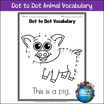 Dot to Dot Animal Vocabulary