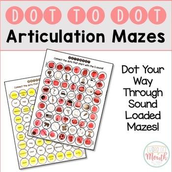 Dot to Dot Articulation Mazes