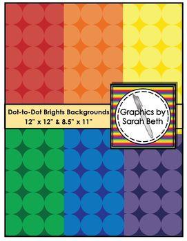 Dot-to-Dot Brights Backgrounds - Polka-Dot Backgrounds