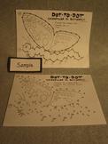 Dot-to-Dot Caterpiller Into Butterfly. Fun Craft Art