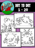 Dot to Dot / Connect the Dots 1 - 20 - MONSTERS