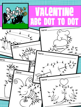 Dot to Dot / Connect the Dots ALPHABET - VALENTINE'S DAY