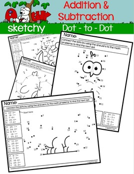 Dot to Dot / Connect the Dots Addition and Subtraction