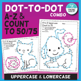 Dot-to-Dot / Connect the Dots Alphabet A to Z / Count to 75