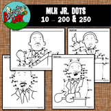 Dot to Dot / Connect the Dots -MARTIN LUTHER KING JR -Skip by 10's 10-200 & 250