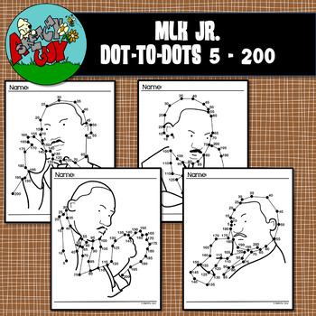 Dot to Dot / Connect the Dots - MARTIN LUTHER KING JR - Skip by 5's 5-200