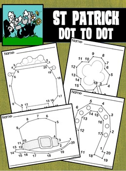 Dot to Dot / Connect the Dots 1 - 20 - ST PATRICK'S DAY