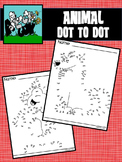 Dot to Dot Connect the Dots Animals 1-89, 1-90, 1-94, 1-101, 1-107, 1-109, 1-115