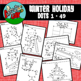 Dot to Dot / Connect the Dots Skip 1-49 (odd numbers)- CHRISTMAS / WINTER