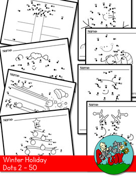 Dot to Dot / Connect the Dots Skip 2 - 50 - CHRISTMAS / WINTER