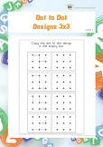 Dot to Dot Designs 3x3 (Spatial Skills Worksheets)