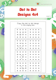Dot to Dot Designs 4x4 (Spatial Skills Worksheets)