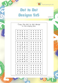 Dot to Dot Designs 5x5 (Spatial Skills Worksheets)