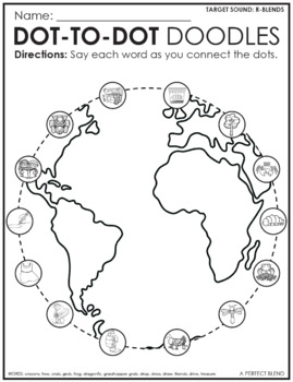 Articulation Dot-to-Dot Doodles- Earth Day