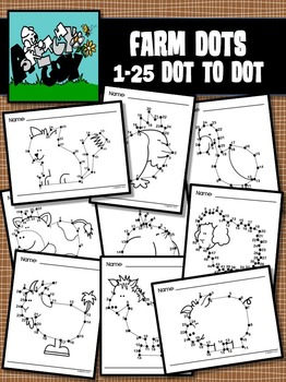 Dot to Dot / Connect the Dots 1 - 25 - FARM SET
