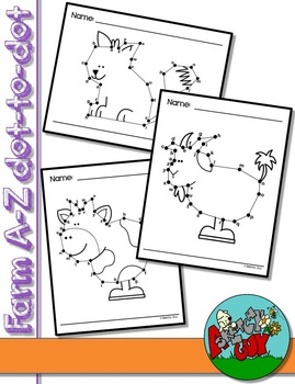 Dot to Dot / Connect the Dots A - Z - FARM SET