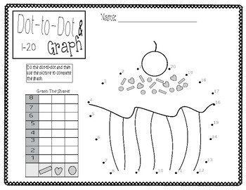 Dot-to-Dot & Graph Valentine- Count by 1s- Freebie
