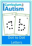 Dot to Dot Letters Autism Fine Motor Pencil Skills